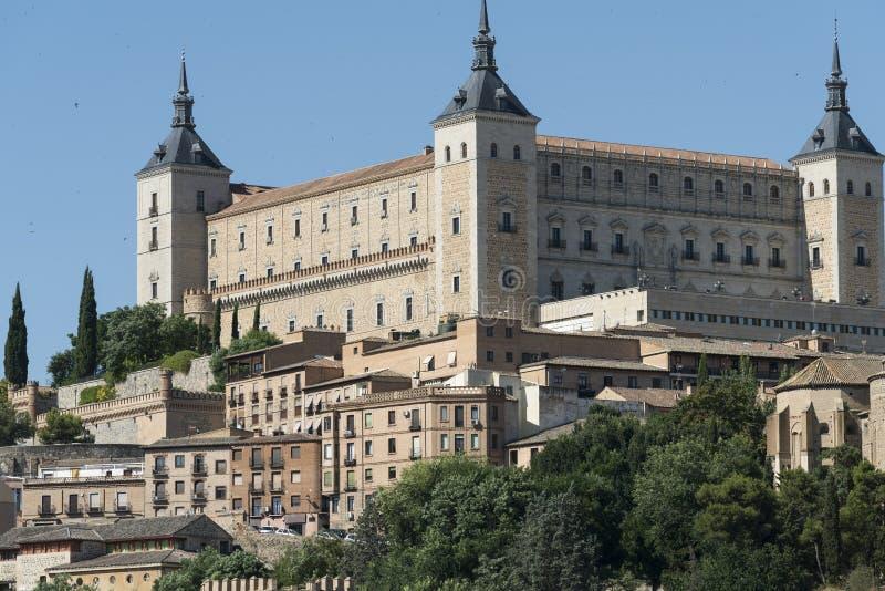 Τολέδο Ισπανία: το Alcazar στοκ φωτογραφία