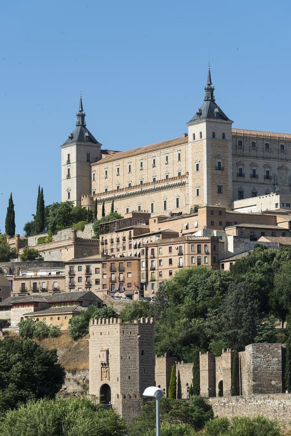 Τολέδο Ισπανία: το Alcazar στοκ φωτογραφία με δικαίωμα ελεύθερης χρήσης