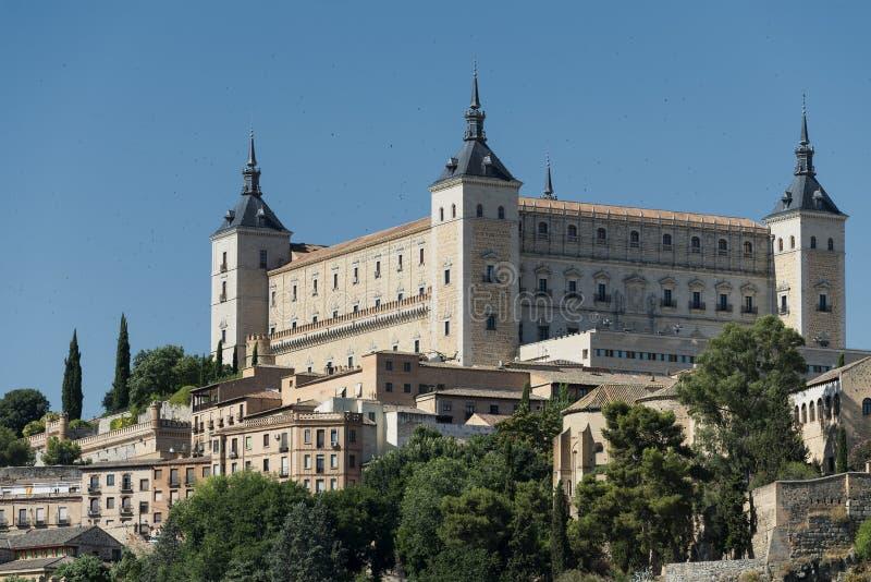 Τολέδο Ισπανία: το Alcazar στοκ εικόνα
