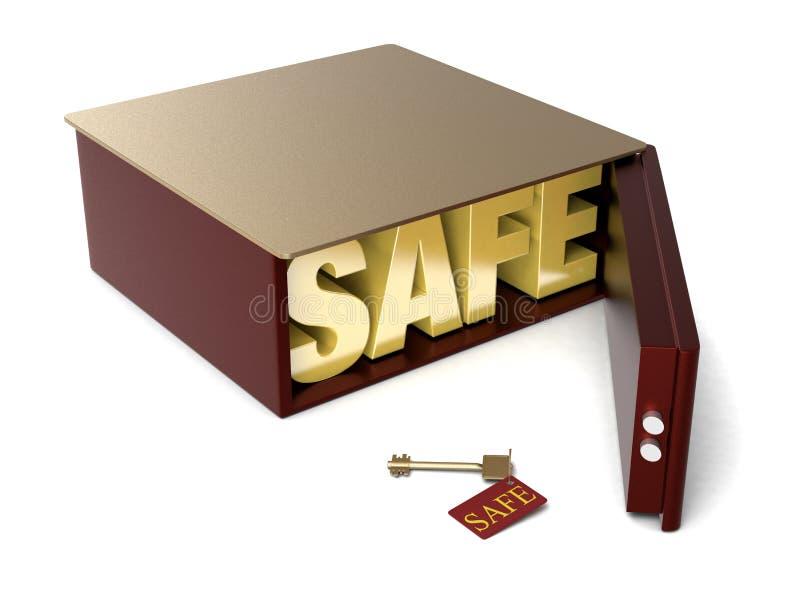 το ίζημα κιβωτίων ανασκόπησης απομόνωσε το ασφαλές λευκό απεικόνιση αποθεμάτων
