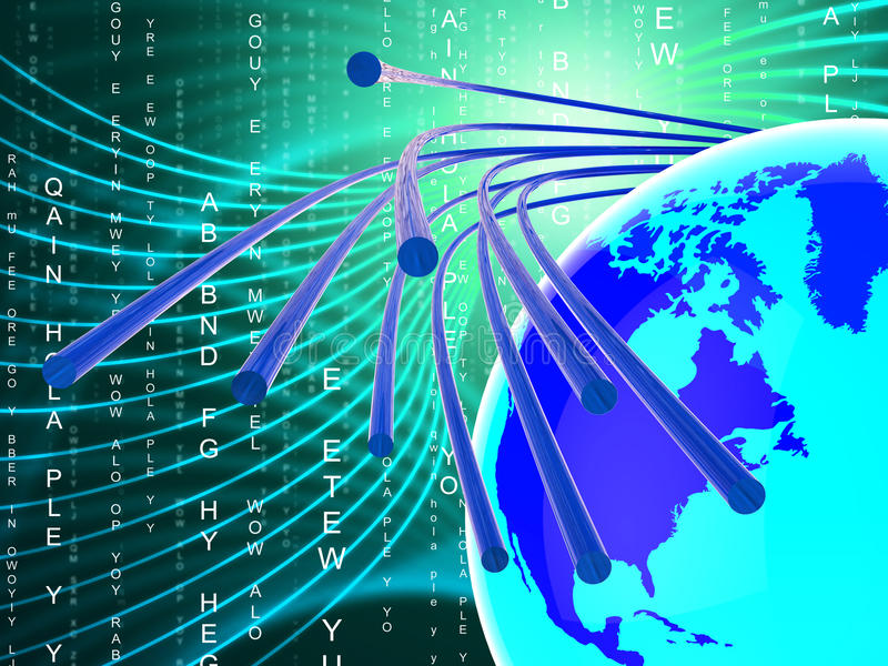 Το δίκτυο οπτικής ίνας παρουσιάζει το World Wide Web και επικοινωνία απεικόνιση αποθεμάτων