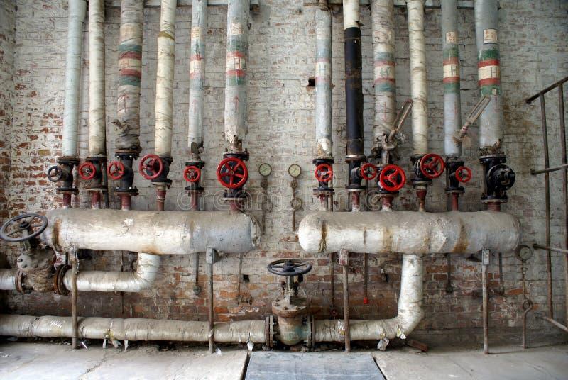 το αέριο διοχετεύει με σωλήνες το ύδωρ στοκ φωτογραφίες