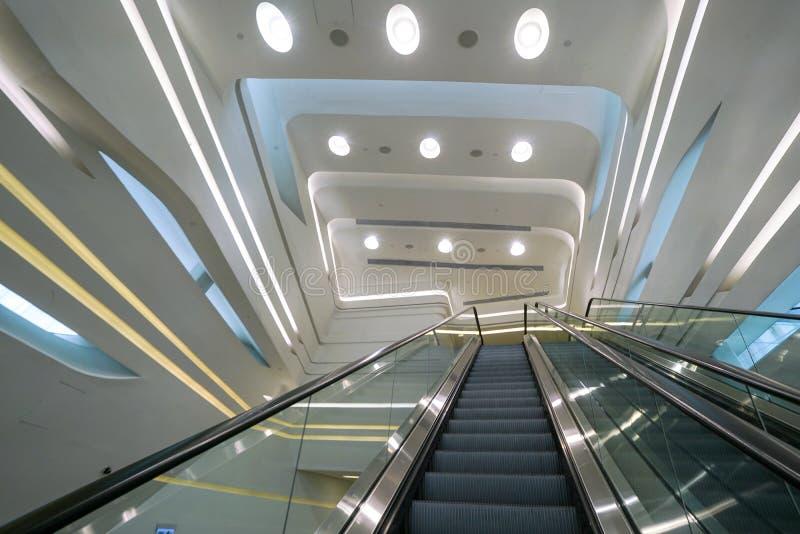 Το αίθριο εισόδων Jockey του πύργου καινοτομίας λεσχών, Χονγκ Κονγκ στοκ εικόνες