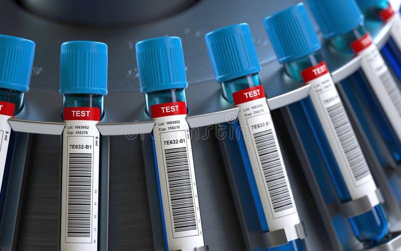 Το αίμα υποβάλλει τη μηχανή σε φυγοκέντρωση ελεύθερη απεικόνιση δικαιώματος