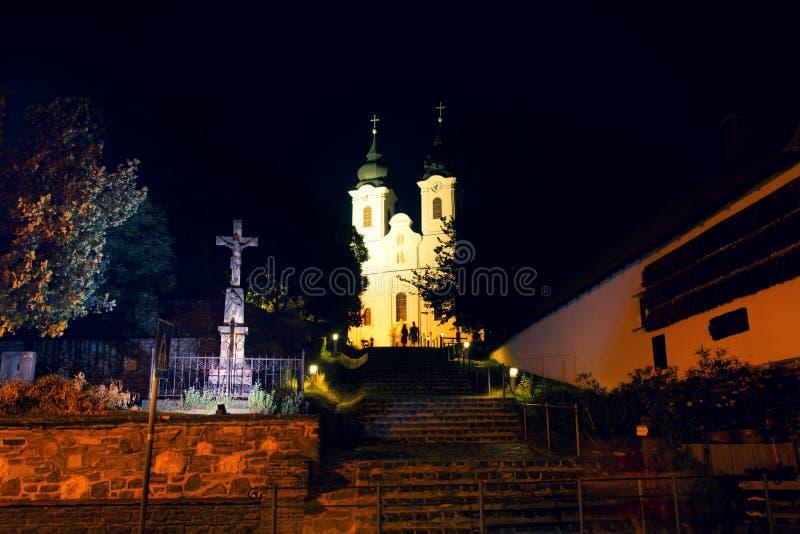 Το αβαείο Tihany είναι ένα Benedictine μοναστήρι στην Ουγγαρία στοκ εικόνα με δικαίωμα ελεύθερης χρήσης