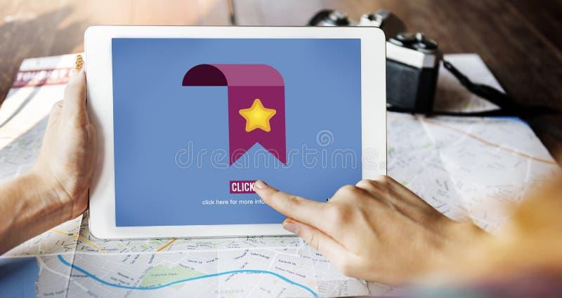Το αγαπημένο δίκτυο πληροφοριών σελιδοδεικτών χτυπά την έννοια στοκ εικόνα με δικαίωμα ελεύθερης χρήσης