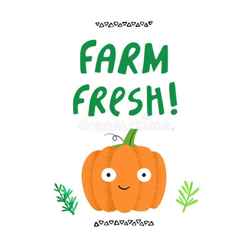 Το αγρόκτημα φρέσκο είχε σύρει τη διανυσματική απεικόνιση διανυσματική απεικόνιση
