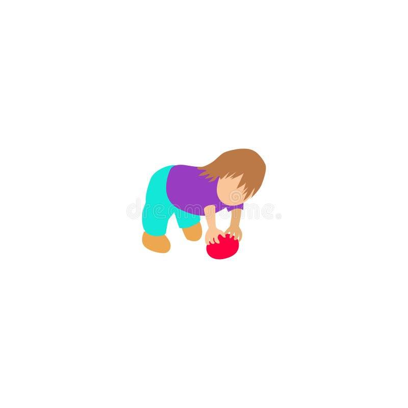 Το αγόρι έκαμψε κάτω για να αυξήσει το αυγό Πάσχας ελεύθερη απεικόνιση δικαιώματος