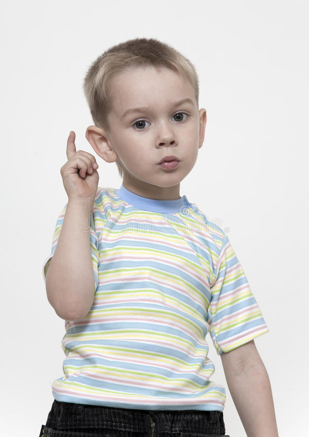το αγόρι προειδοποιεί στοκ εικόνα με δικαίωμα ελεύθερης χρήσης