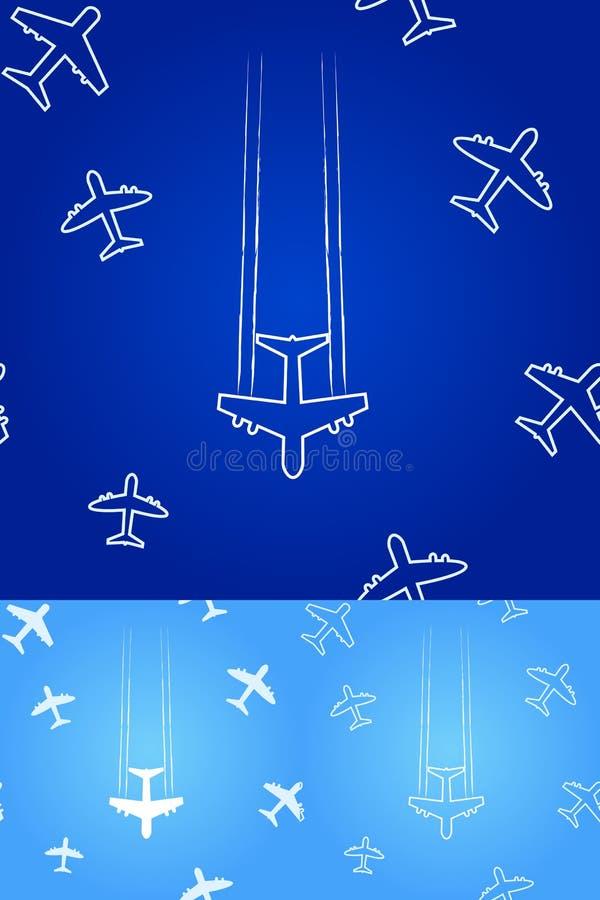 το αεροπλάνο σκιαγραφ&epsilo ελεύθερη απεικόνιση δικαιώματος