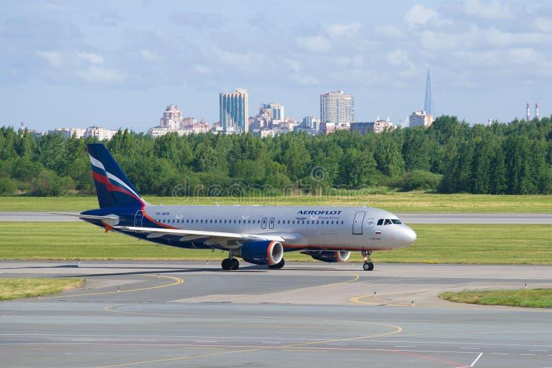 Το αεροπλάνο airbus A320 στοκ φωτογραφία