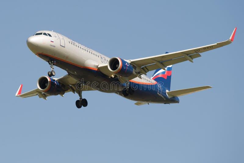 Το αεροπλάνο vq-BSH airbus A320-200 των Αεροφλότ-ρωσικών αερογραμμών στοκ εικόνες