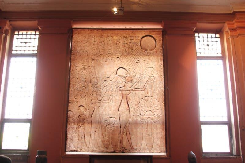 Το αιγυπτιακό μουσείο από μέσα στοκ φωτογραφίες με δικαίωμα ελεύθερης χρήσης