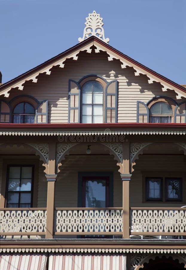 Το ακρωτήριο μπορεί βικτοριανό σπίτι στοκ φωτογραφία