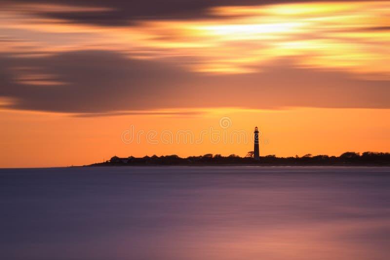 Το ακρωτήριο μπορεί μακροχρόνιο ηλιοβασίλεμα έκθεσης φάρων στοκ φωτογραφίες με δικαίωμα ελεύθερης χρήσης