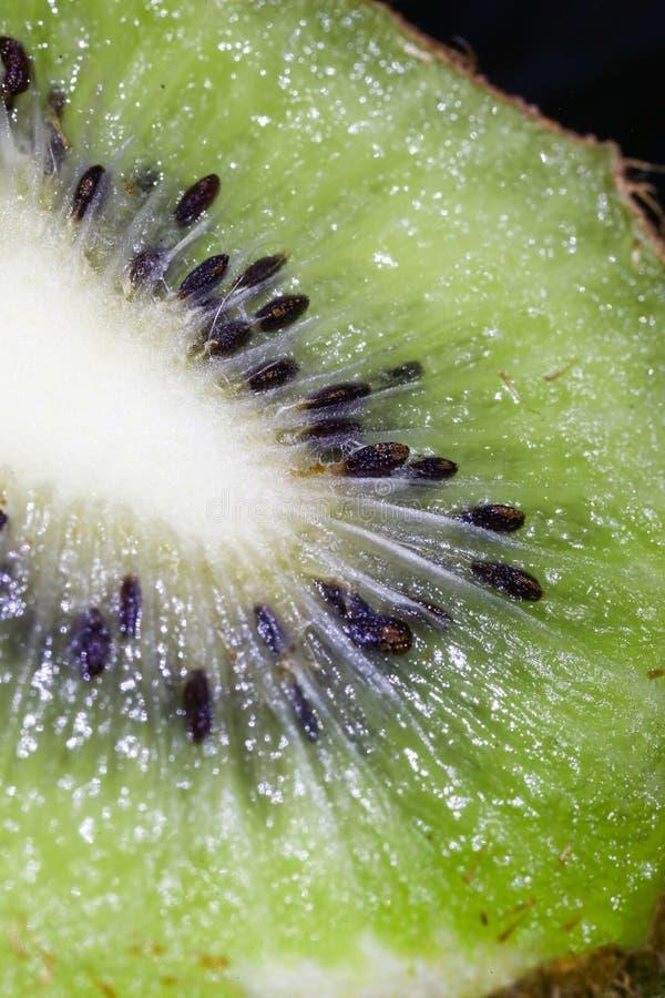 Το ακτινίδιο, σπόρος, σχέδιο, φρούτα, ραβδώσεις, λάμπει, σύσταση, έντονο φως, σάρκα στοκ φωτογραφία