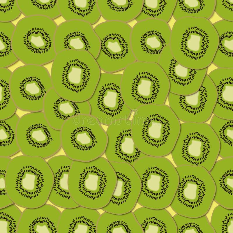 Download Το ακτινίδιο τεμαχίζει το άνευ ραφής υπόβαθρο Διανυσματική απεικόνιση - εικονογραφία από γλυκός, ώριμος: 62717225