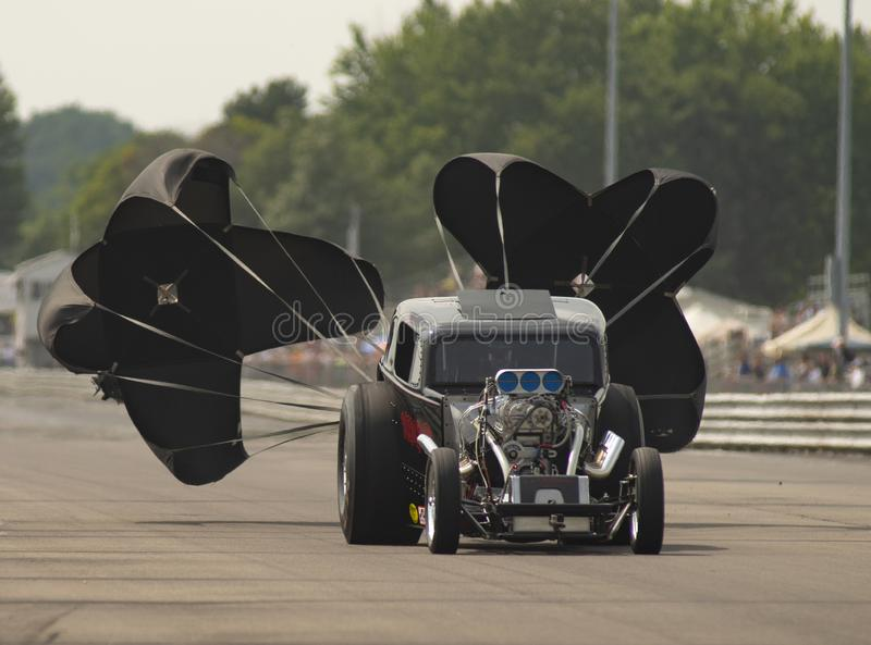Το αλλαγμένο καύσιμα αυτοκίνητο Nimrod επιβραδύνει μετά από Raceway Eddyville φυλών έλξης στοκ εικόνες