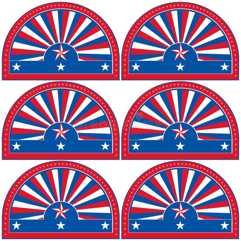Το αμερικανικό πατριωτικό σύμβολο για το σχέδιο και διακοσμεί ελεύθερη απεικόνιση δικαιώματος