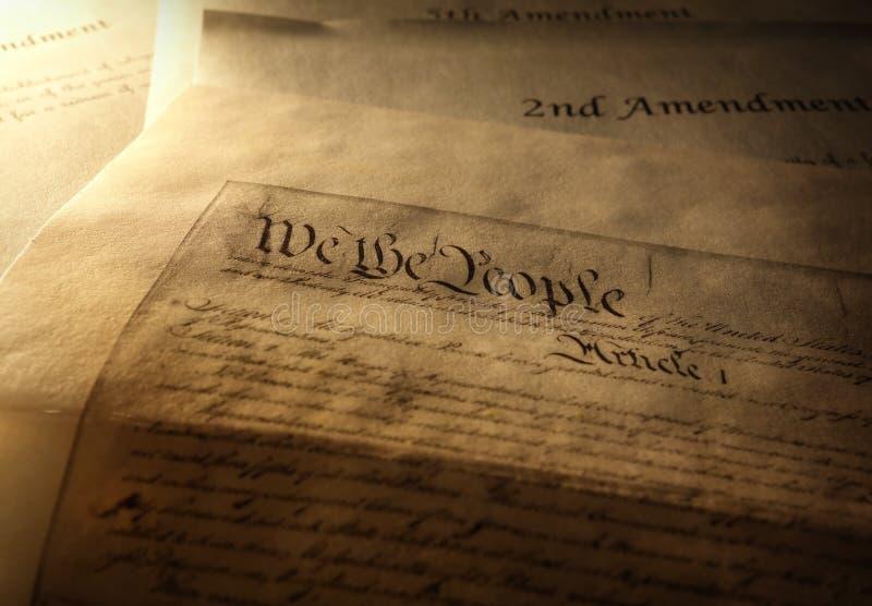 Το αμερικανικό σύνταγμα στοκ φωτογραφίες με δικαίωμα ελεύθερης χρήσης