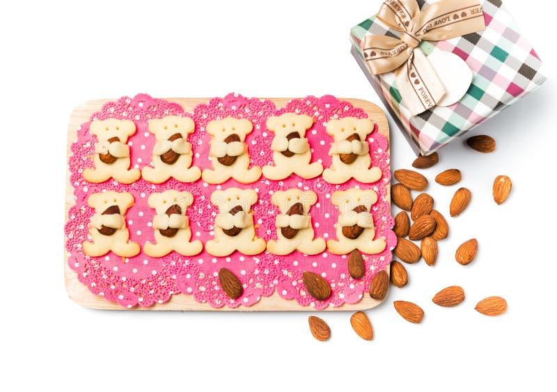 Το αμύγδαλο αντέχει τα μπισκότα στοκ εικόνα