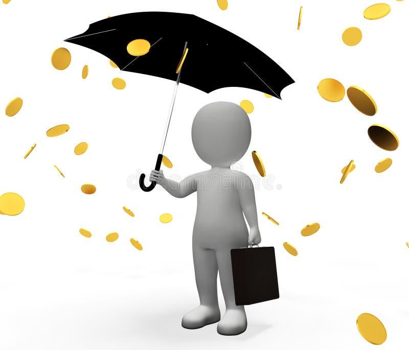 Το αναπάντεχο κέρδος χρημάτων σημαίνει εκτός από και τρισδιάστατη απόδοση χαρακτήρα διανυσματική απεικόνιση