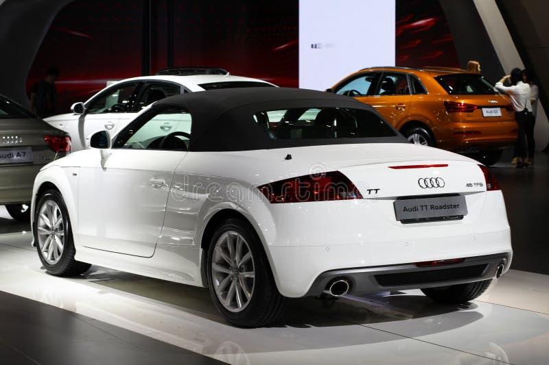 Το ανοικτό αυτοκίνητο Audi TT στοκ εικόνες