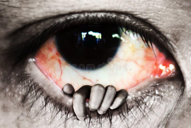 το ανοικτό μάτι χεριών, εξαπατά την έννοια στοκ εικόνες με δικαίωμα ελεύθερης χρήσης