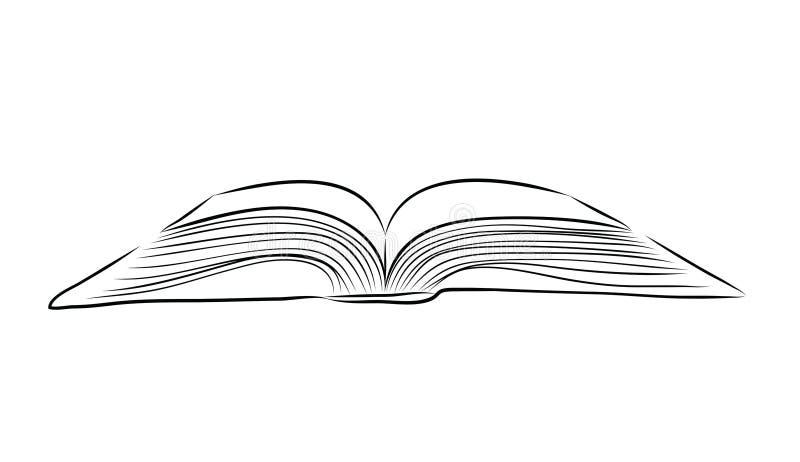 Το ανοικτό χέρι βιβλίων σύρει ελεύθερη απεικόνιση δικαιώματος