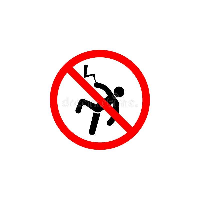 Το απαγορευμένο εικονίδιο αστραπής στο άσπρο υπόβαθρο μπορεί να χρησιμοποιηθεί για τον Ιστό, λογότυπο, κινητό app, UI UX απεικόνιση αποθεμάτων