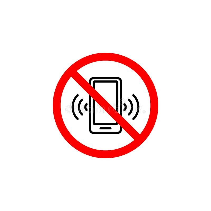 Το απαγορευμένο εικονίδιο τηλεφωνήματος μπορεί να χρησιμοποιηθεί για τον Ιστό, λογότυπο, κινητό app, UI UX ελεύθερη απεικόνιση δικαιώματος