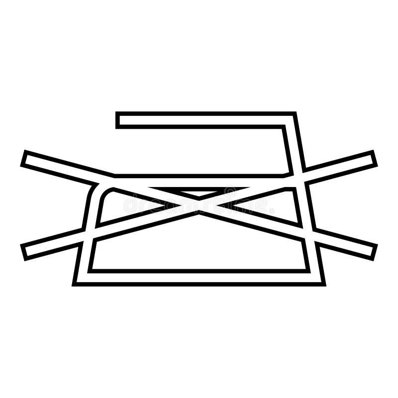 Το απαγορευμένο σιδέρωμα δεν επιτρέπεται τα σύμβολα προσοχής ενδυμάτων που πλένουν την περίληψη εικονιδίων σημαδιών πλυντηρίων έν διανυσματική απεικόνιση