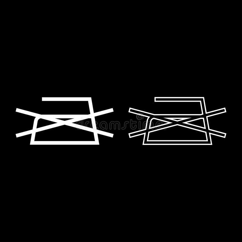 Το απαγορευμένο σιδέρωμα δεν επιτρέπεται τα σύμβολα προσοχής ενδυμάτων που πλένουν την περίληψη εικονιδίων σημαδιών πλυντηρίων έν απεικόνιση αποθεμάτων