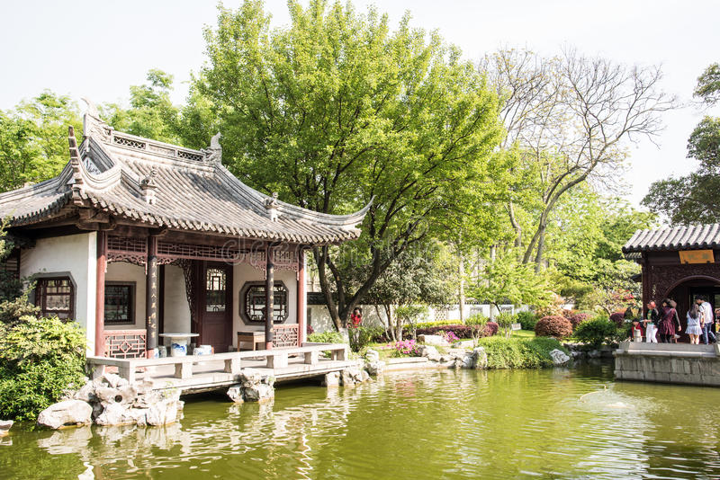 Το αποκατεστημένο τοπίο κήπων στοκ εικόνες