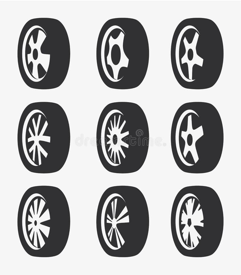 Το απομονωμένο γραπτό κράμα χρώματος κυλά τη συλλογή λογότυπων, τα στοιχεία αυτοκινήτων logotype θέτουν τη διανυσματική απεικόνισ απεικόνιση αποθεμάτων