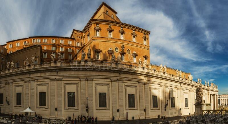 Το αποστολικό παλάτι είναι κατοικία του παπά, Βατικανό στοκ εικόνες
