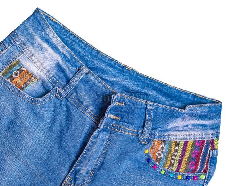 Το αρσενικό τζιν παντελόνι που απομονώνεται στο άσπρο υπόβαθρο στοκ φωτογραφία με δικαίωμα ελεύθερης χρήσης