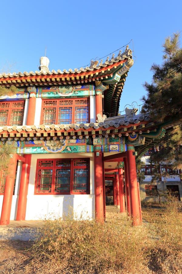 Το αρχαίο βασιλικό παλάτι στο πανεπιστήμιο του Πεκίνου, πλίθα rgb στοκ φωτογραφία