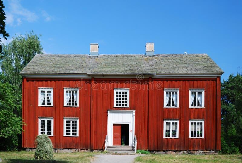 το αρχαίο σπίτι σουηδικά στοκ φωτογραφίες