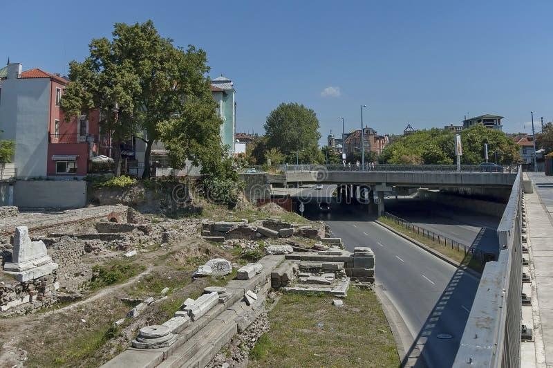 Το αρχαίο στάδιο Philipopolis σε Plovdiv, Βουλγαρία στοκ φωτογραφία