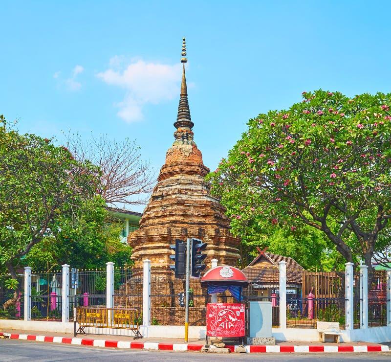Το αρχαίο chedi σε Chiang Mai, Ταϊλάνδη στοκ φωτογραφία με δικαίωμα ελεύθερης χρήσης