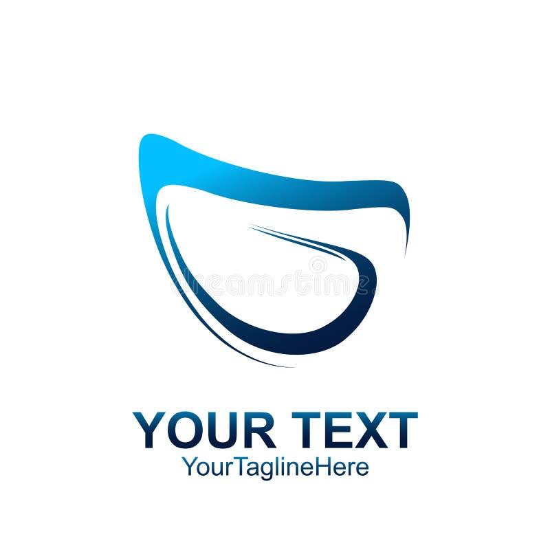 Το αρχικό πρότυπο λογότυπων Γ επιστολών χρωμάτισε το μπλε αφηρημένο desi swoosh ελεύθερη απεικόνιση δικαιώματος