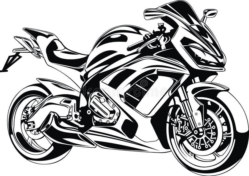 Το αρχικό σχέδιο μοτοσικλετών μου απεικόνιση αποθεμάτων