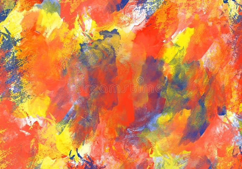 Το αρχικό χρώμα watercolor σύστασης τέχνης ρίχνει αφηρημένο expressionism λεκέδων διανυσματική απεικόνιση