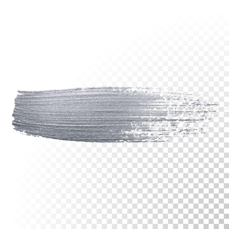 Το ασημένιο χρωμάτων λεκέδων ή smudge βουρτσών κτύπημα και η αφηρημένη κηλίδα κτυπημάτων μελανιού πινέλων ακτινοβολώντας με ακτιν απεικόνιση αποθεμάτων