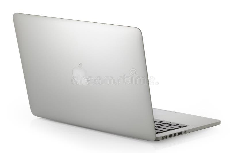 Το ασημένιο MacBook Pro στοκ εικόνες με δικαίωμα ελεύθερης χρήσης