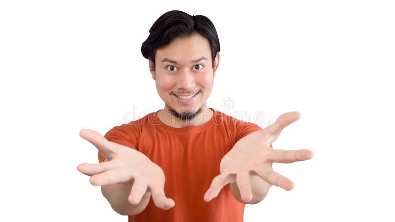 Το ασιατικό άτομο παρουσιάζει στοκ εικόνα
