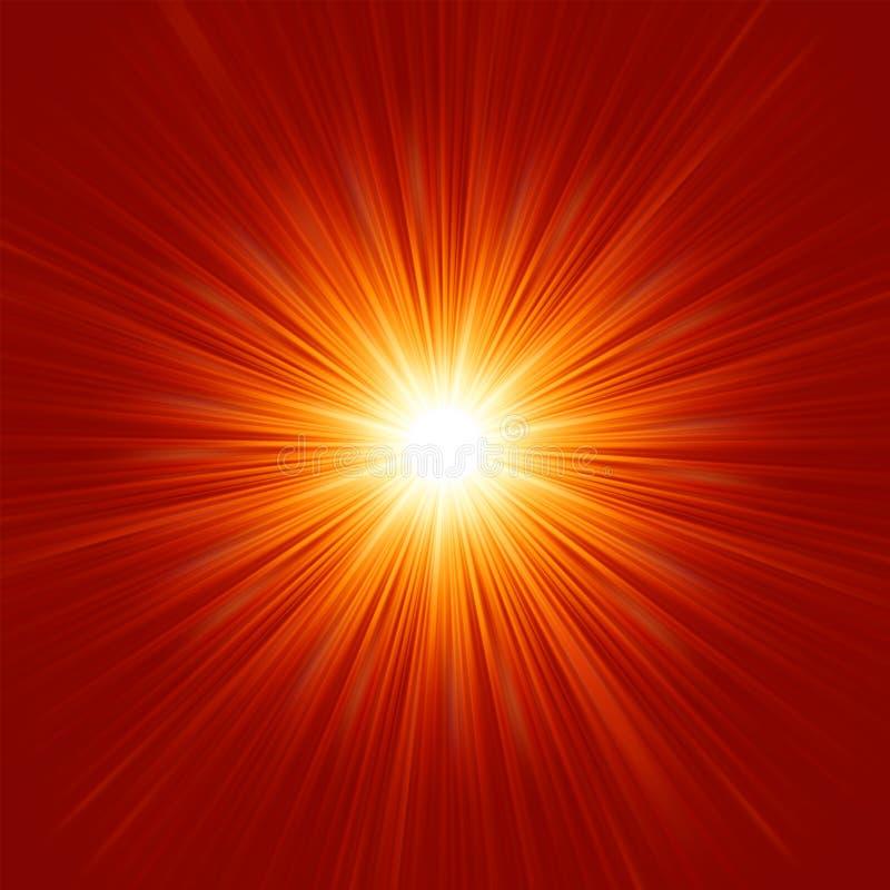 Το αστέρι εξερράγη την κόκκινη και κίτρινη πυρκαγιά. EPS 8 ελεύθερη απεικόνιση δικαιώματος