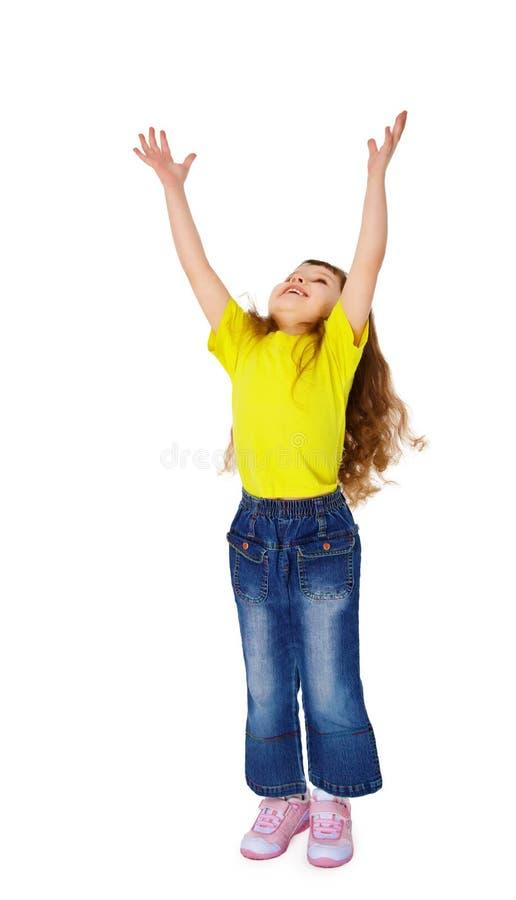 το αστείο κορίτσι δίνει &lambda στοκ εικόνα