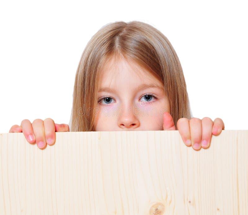 το αστείο κορίτσι κρατά στοκ εικόνα με δικαίωμα ελεύθερης χρήσης